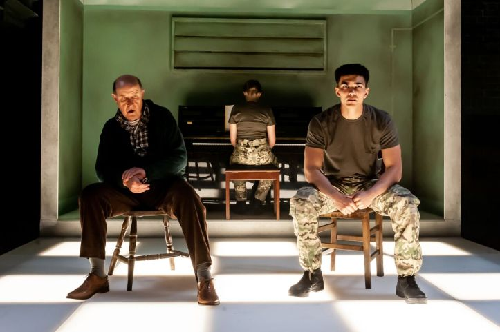 Not Talking at the Arcola Theatre. David Horovitch (James) Laurence Walker (Mark) Photo by Lidia Crisafulli_preview