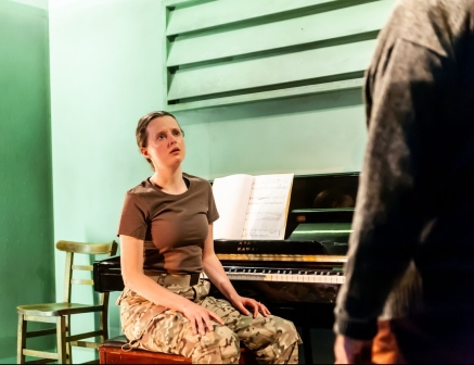 Not Talking at the Arcola Theatre. Gemma Lawrence (Amanda) Photo by Lidia Crisafulli (2)_preview