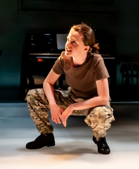 Not Talking at the Arcola Theatre. Gemma Lawrence (Amanda) Photo by Lidia Crisafulli_preview